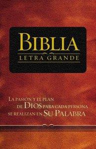 Rvr 1909 Biblia Letra Grande Black (Red Letter Edition) (Spanish)