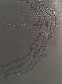 KJV Sword Study Bible Personal Size Large Print Designer Charcoal Ultrasoft Crown of Thorns (Red Letter Edition)