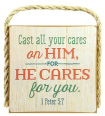 Gone Coastal Plaque: Cast All Your Cares on Him (1 Peter 5:7)