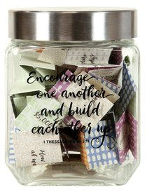 Conversation Starter Jar: Encourage One Another and Build Each Other Up (1 Thess 5:11) ((In)courage Gift Product Series)