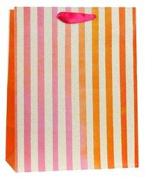 Gift Bag Meduim: Pink Orange Stripes (James 1:17)
