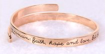 Bracelet Simply Loved Design: The Greatest is Love (Rose Gold Plated)