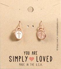 Earrings Simply Loved Design: Dot Cross (Rose Gold Plated)