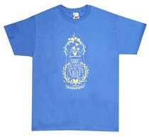 Womens T-Shirt: Shine His Light Xlarge Blue (Matthew 5:15)