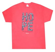 Womens T-Shirt: Hope Paisley Small Orange Coloured Pattern (Jer 29:11)