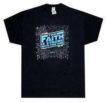 T-Shirt the Faith is Strong....Medium Black/Blue (1 Cor 16:13)