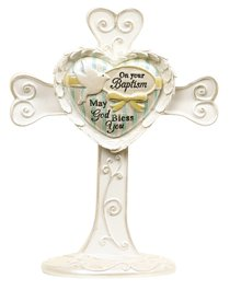 Heart Expressions Cross: Baptism, on Your Baptism May God Bless You