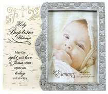 Elements Photo Frame: Holy Baptism Blessings, May the Light and Love of Jesus Shine Upon You Today and Always