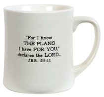 Ceramic Mug: Hope Gods Promises, Cream (Jeremiah 29:11)