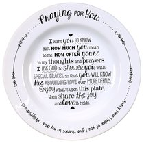 Ceramic Praying For You Plate: Every Time I Think of You....Phil 1:13