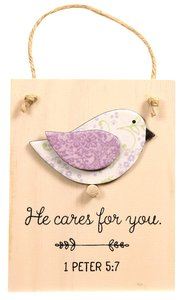 Chirps Plaque: He Cares For You, 1 Peter 5:7