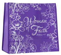 Reusable Shopping Bag: Women of Faith (Purple With Lavender Sides)
