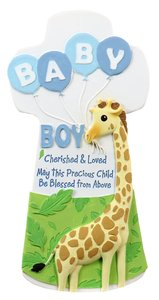 Cherished Blessings Wall Cross: Boy, May This Precious Child Be Blessed From Above