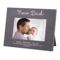 Mdf Frame: New Dad Blessed, Brown/White Writing (Numbers 6:24)