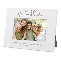 Mdf Frame: Me & My Grandkids Blessed, White (Numbers 6:24)
