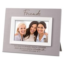 Mdf Textured Frame: Blessings Friend, Cream (1 Thess 5:11)