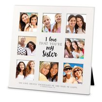 Mdf Ceramic Frame Collage: I Love That Youre My Sister, (2 Cor 7:4)