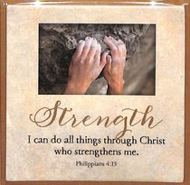 Touching Thoughts Magnet: Strength... I Can Do All Things... (Phil 4:13)
