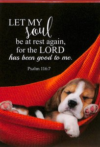 Notepad: Let My Soul Be At Rest Again.... (Puppy Sleeping In Hammock)