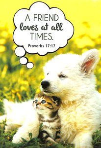Notepad: A Friend Loves At All Times (Puppy & Kitten)