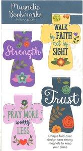 Bookmark Magnetic: Strength, Faith, Pray, Trust (Set Of 4)