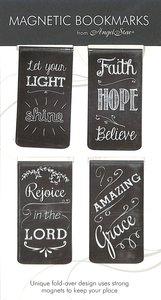 Magnetic Bookmark Set of 4: Chalkboard Assortment