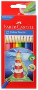 Faber-Castell Full Length Hex Colour Pencils Set of 12