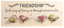 Chirps Wall Art With Photo/Note Clips: Friendship - Gods Way of Loving Us Through Someone Else