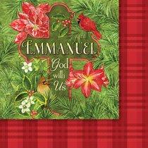 Christmas Napkins: Emmanuel God With Us
