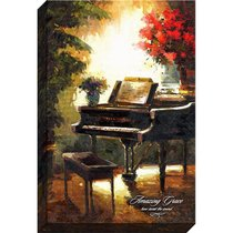 Canvas Wall Art: Amazing Grace, Grand Piano