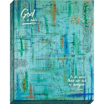 Canvas Wall Art: God is Able, Blue Abstract