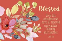 Poster Small: Blessed - John 1:16
