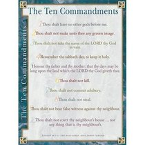 Wall Chart: Ten Commandments (Laminated) (Kjv)