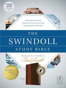NLT the Swindoll Study Bible Brown Tan Indexed (Black Letter Edition)