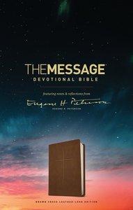 Message Devotional Bible Brown Cross (Black Letter Edition)