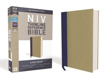 NIV Thinline Reference Bible Large Print Blue/Tan (Red Letter Edition)