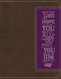 NIV Beautiful Word Coloring Bible and 8-Pencil Gift Set Brown/Purple (Black Letter Edition)