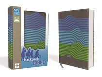 NIV Backpack Bible Compact Charcoal/ Stripes (Red Letter Edition)