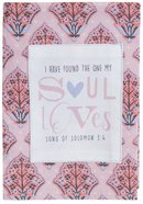 Cotton Tea Towel Love Collection: Soul Loves, Pink/Grey (Song Of Solomon 3:4)