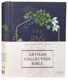 NIV Artisan Collection Bible Navy Floral (Red Letter Edition)