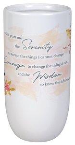 Ceramic Vase: Serenity Prayer, White