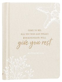Linen Journal: Give You Rest Collection, Cream/Sand (Matthew 11:28)
