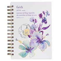 Spiral Journal: Faith, Blue Flowers (Hebrews 11:1)