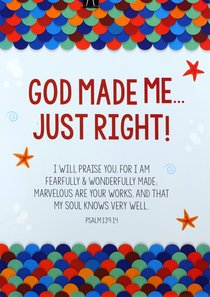 Poster Large: God Made Me Just Right