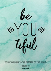 Poster Large: Be You-Tiful