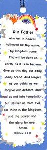Tassel Bookmark: Lords Prayer, The, Rainbow