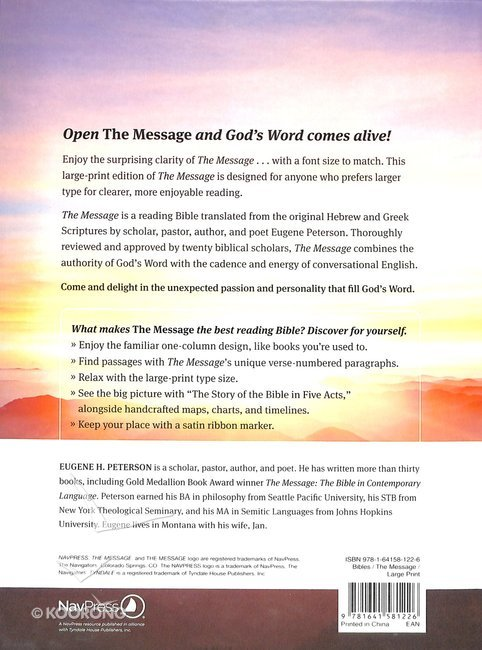 Message Large Print